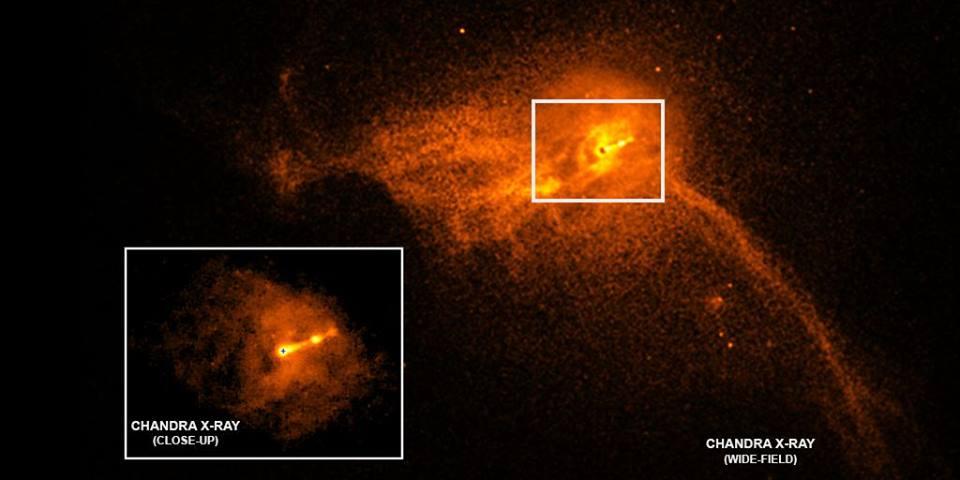 Galaxia M87 donde se puede ver el agujero negro