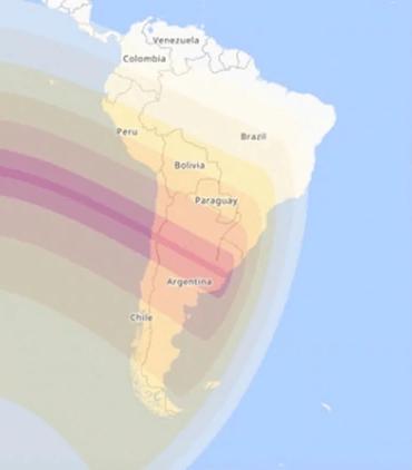 Eclipse 2019 - Zonas por donde pasará