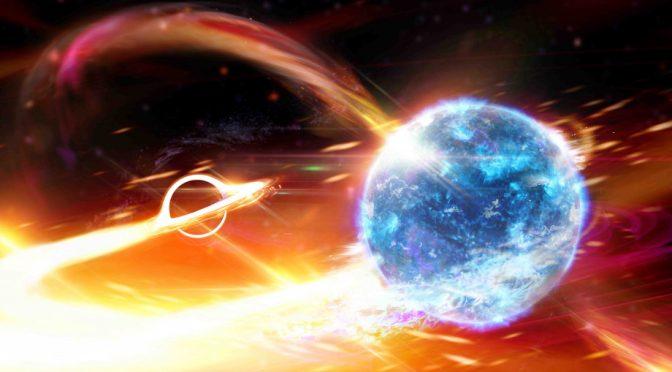Detectan a un agujero negro tragándose una estrella de neutrones